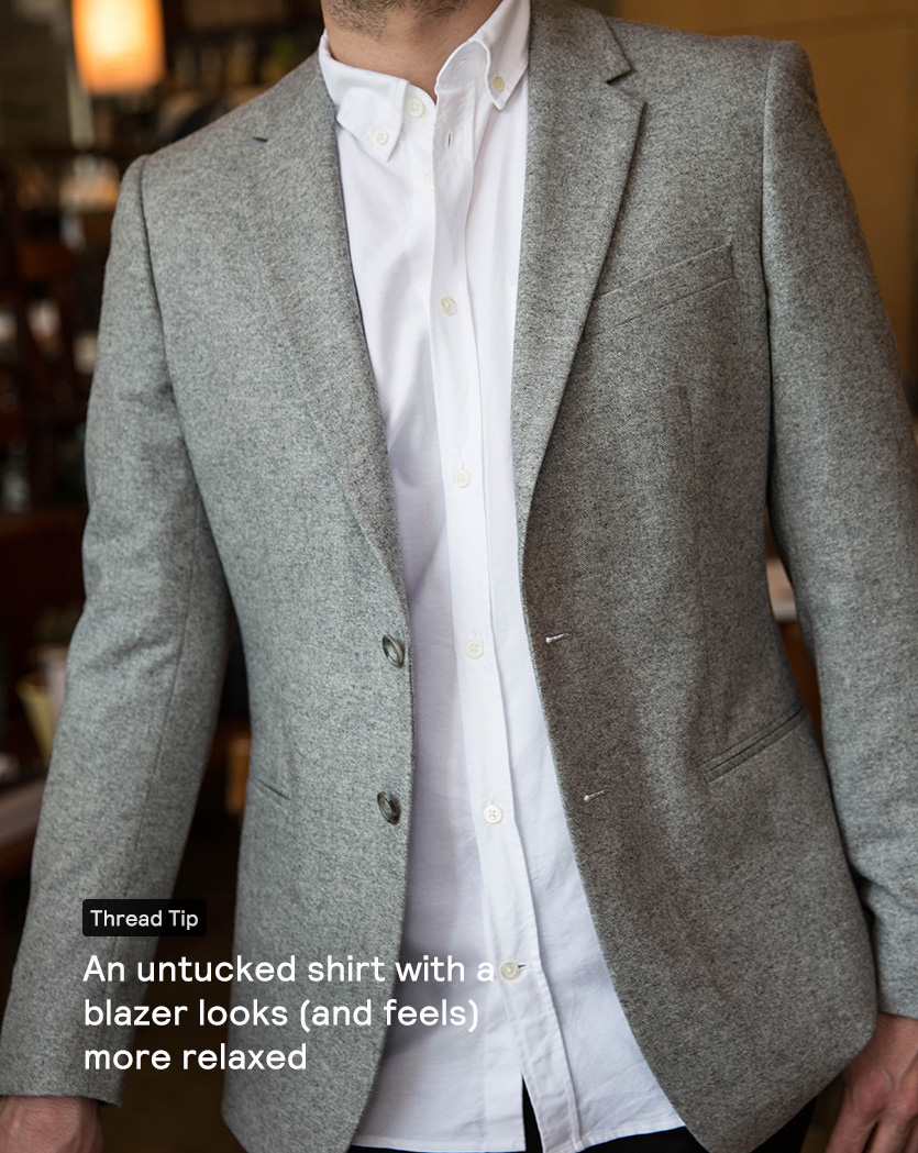 Untucked Shirt With Blazer T Shirt Design Database