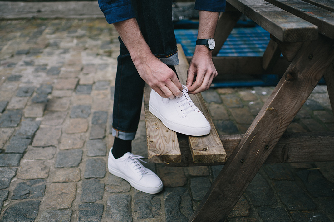Five ways to wear: White trainers
