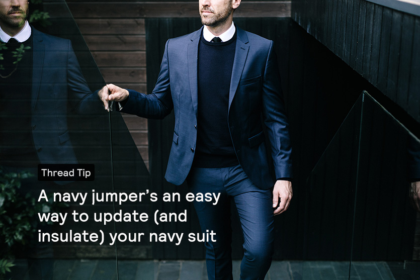 how to wear navy shirt