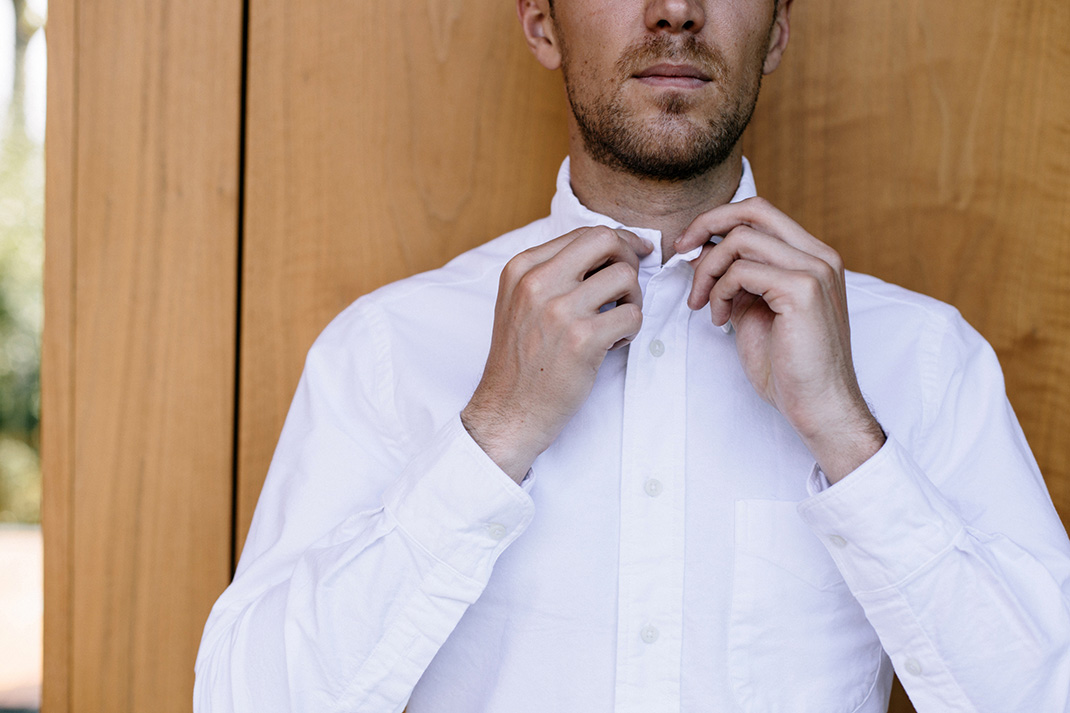 b775ec87 Q&A: What's the deal with fastening the top button on a shirt ...