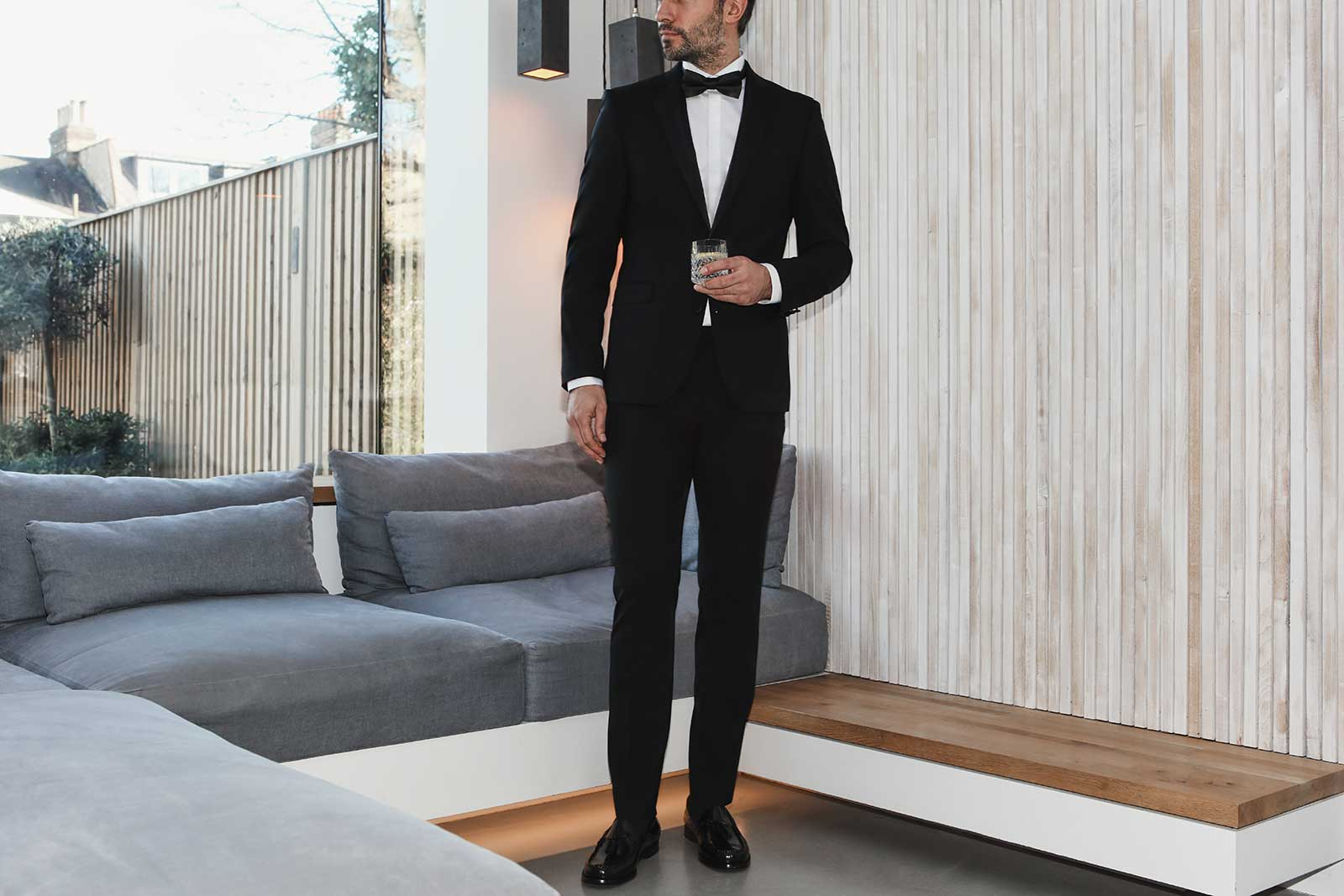 Black tie Christmas party outfit