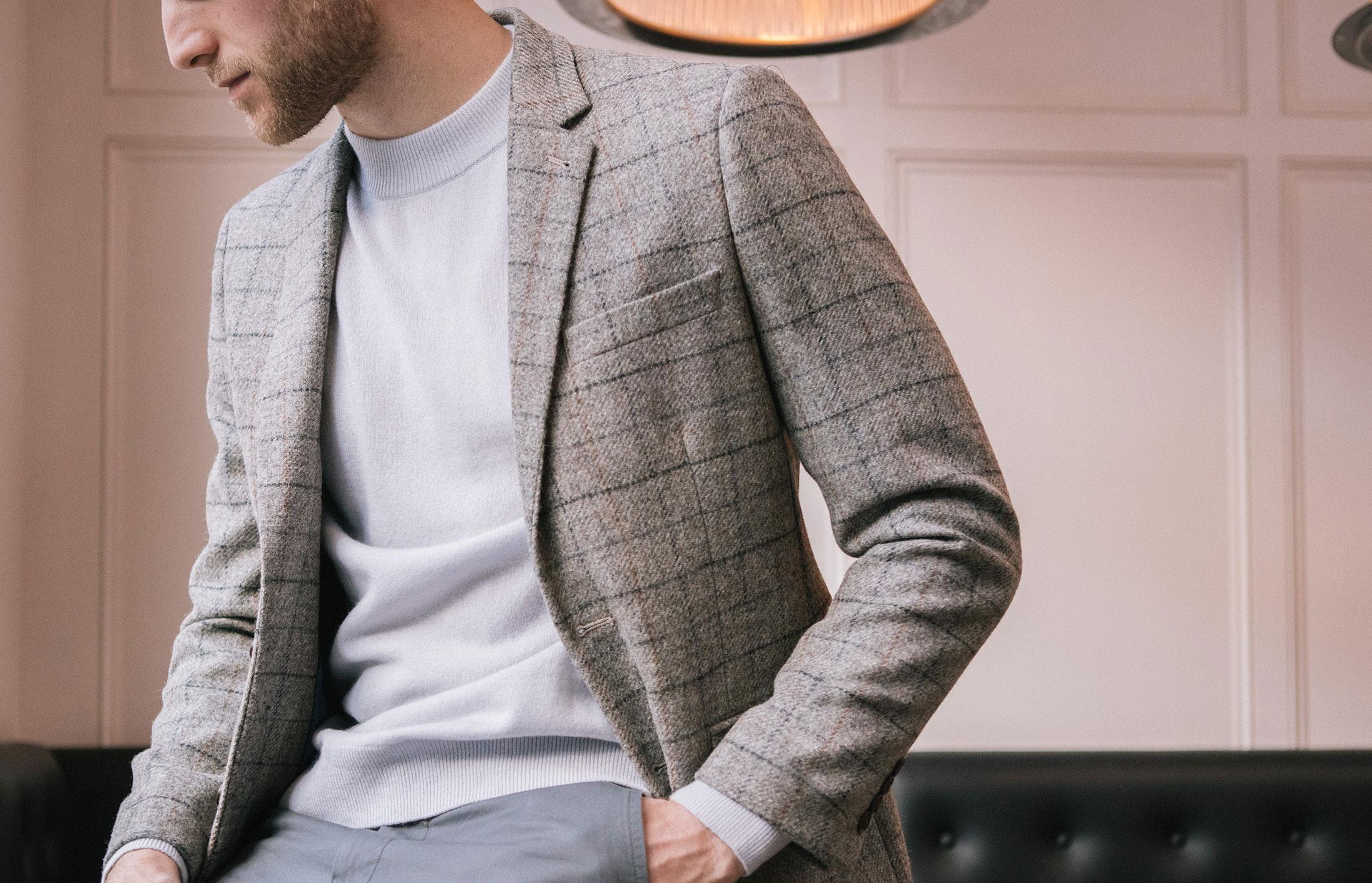 Three ways to wear a patterned blazer
