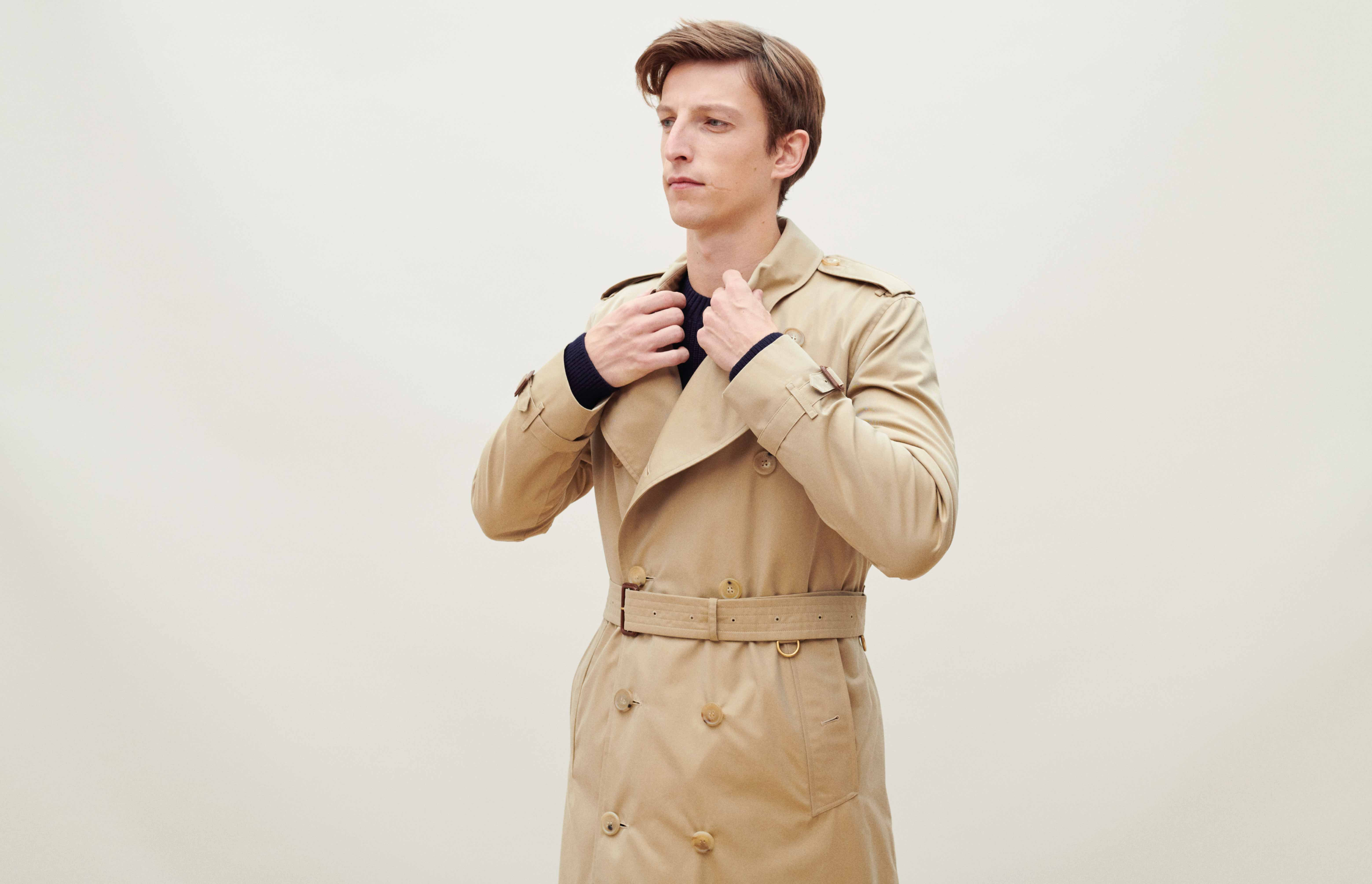 How a trench coat should fit