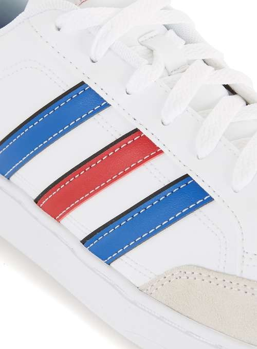 blue and red stripe courtset trainers