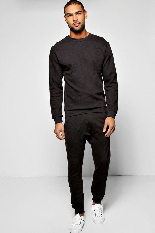 8602d131f04e8 Sweatshirt Tracksuit In Pique by boohooMAN — Thread