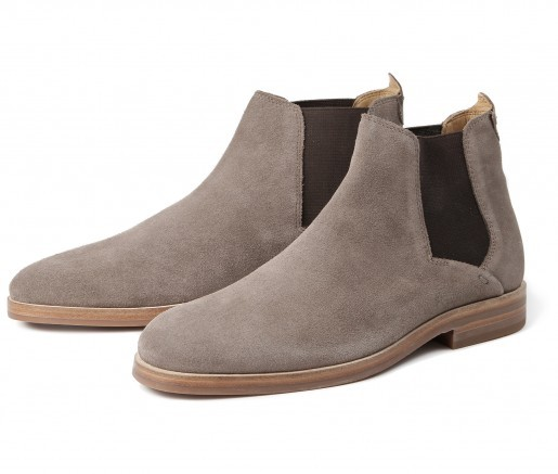 Tonti Suede Taupe Chelsea Boot by