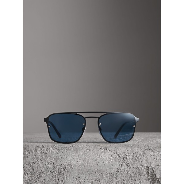 22151eac9df8 Square Frame Metal Sunglasses by Burberry — Thread