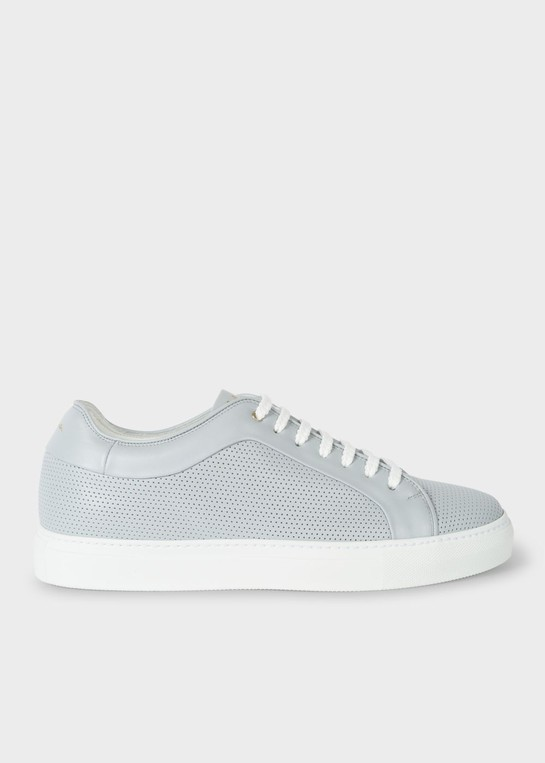 Men's Grey Perforated Leather 'Basso