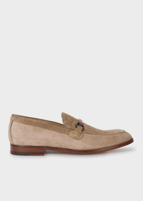 Light Beige Suede 'Grover' Loafers