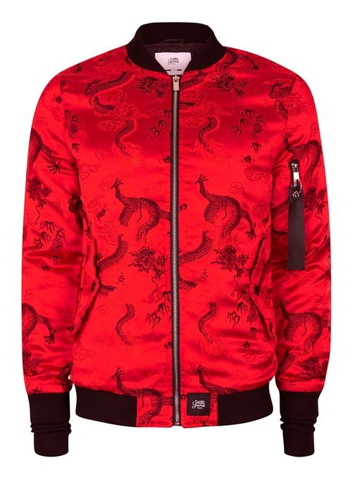 7f1ae5100 Sixth june red and black dragon print bomber jacket by Topman