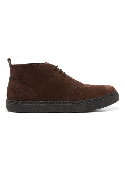 Hawley Mid Suede Shoes by Fred Perry