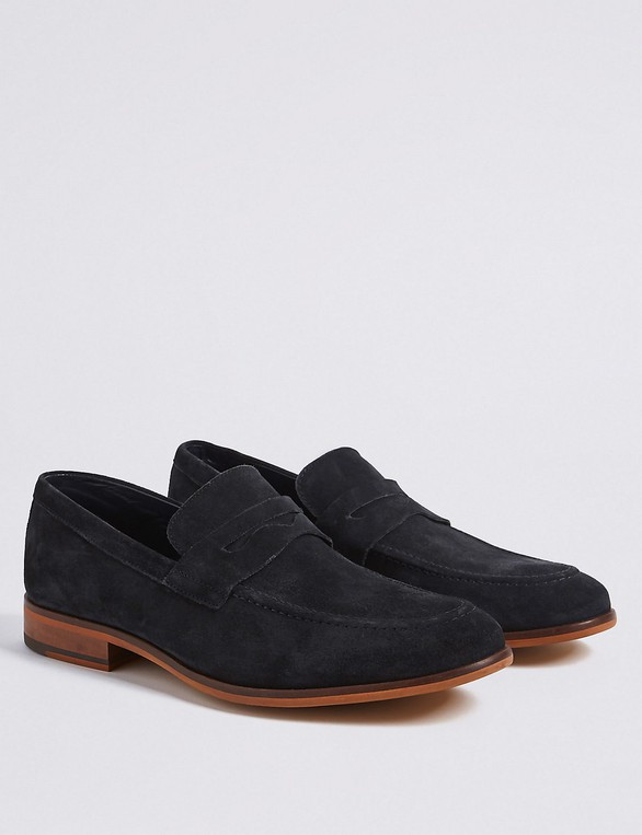 b0b93958b Suede Saddle Slip-on Loafers by Marks & S... — Thread