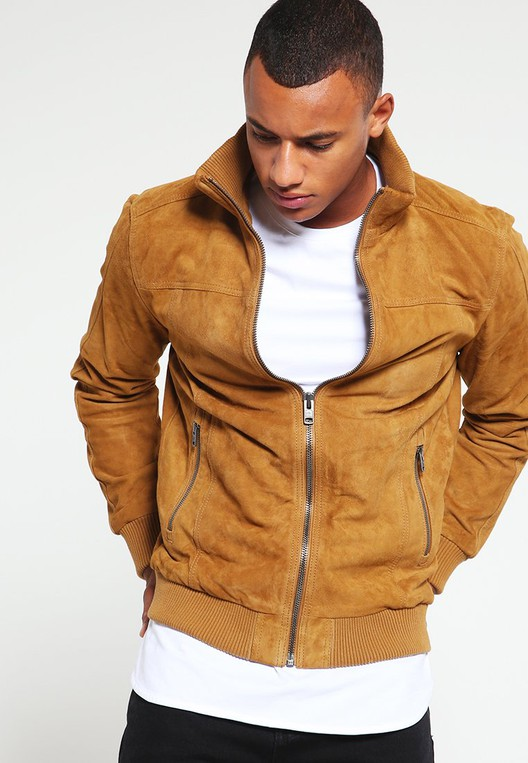 496e35cee HUTCH - Leather jacket by Superdry