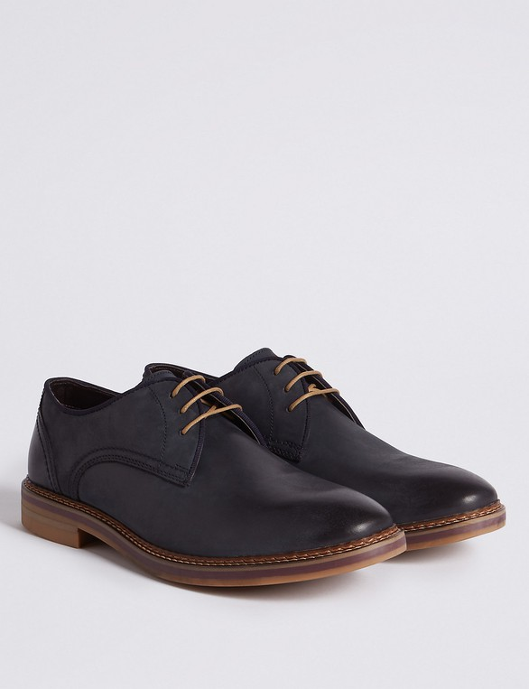 d2e755f0339 Suede Trisole Nubuck Lace-up Gibson Shoes by Marks & Spencer