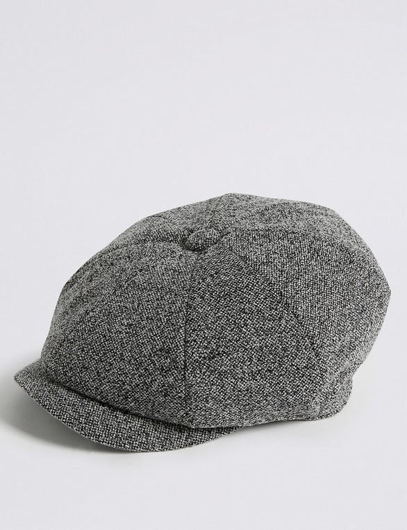 d3c39d02e6eb5 Textured Baker Boy Hat by Marks   Spencer — Thread
