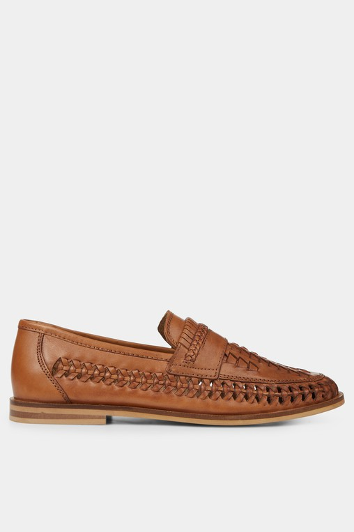 a9a26d5e028e1 Moss London Blake Tan Woven Loafer by Mos... — Thread