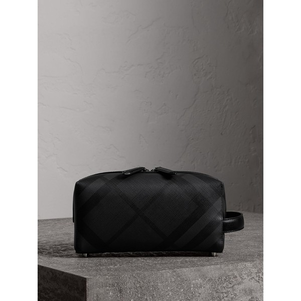 ce8eba6dfdf3 London Check and Leather Pouch by Burberry — Thread