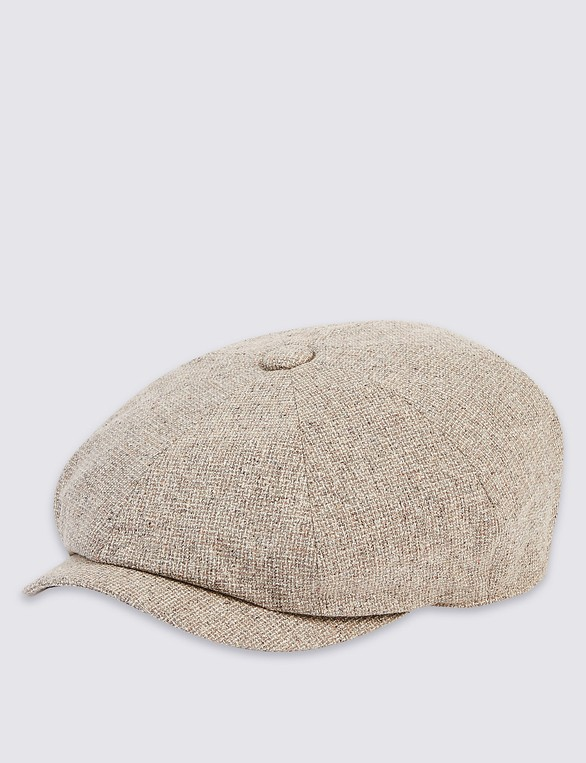 8dcfc7298d5f0 Pure Silk Baker Boy Hat by Marks   Spencer — Thread
