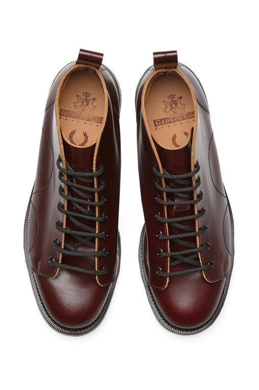 d7d15ed75b2 George Cox George Cox Leather Monkey Boot by Fred Perry