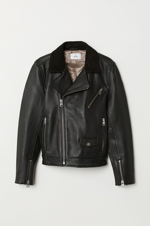 cfc7c298d1 Leather biker jacket by H M Edition — Thread