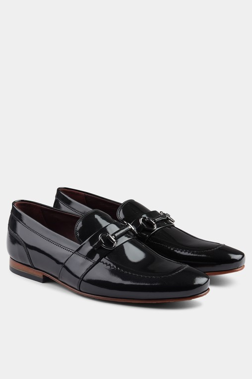 Paiser Black High Shine Loafer by Ted