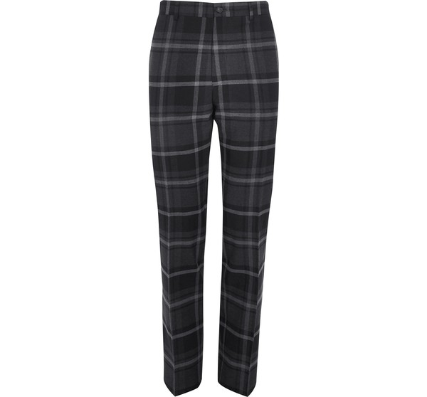 907537a036 Mens Grey check slim fit smart trousers by River Island