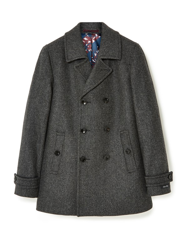 9fdd9e673 Double Breasted Wool Pea Coat by Ted Baker