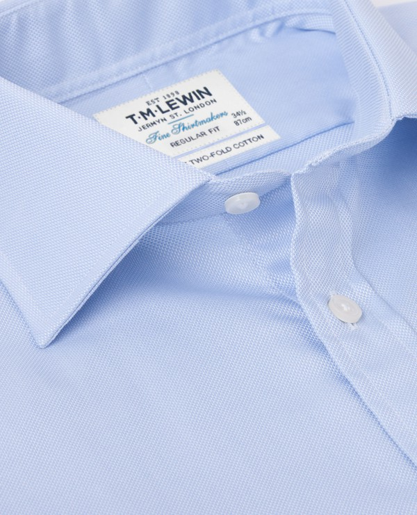 Regular Fit Blue Royal Oxford Shirt By T M Lewin Thread