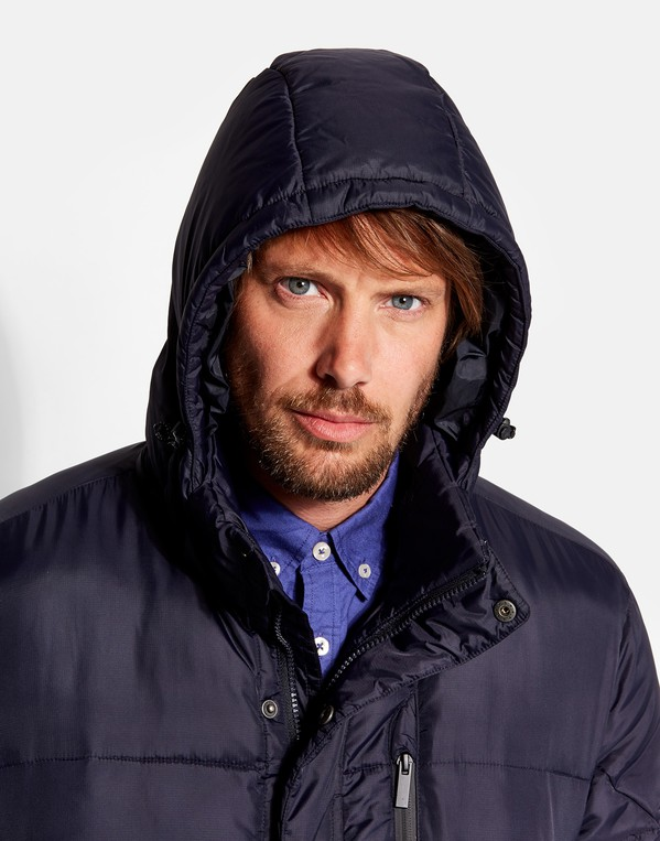 Joules Mens Hartbury Padded Jacket With Removable Hood in BLACK