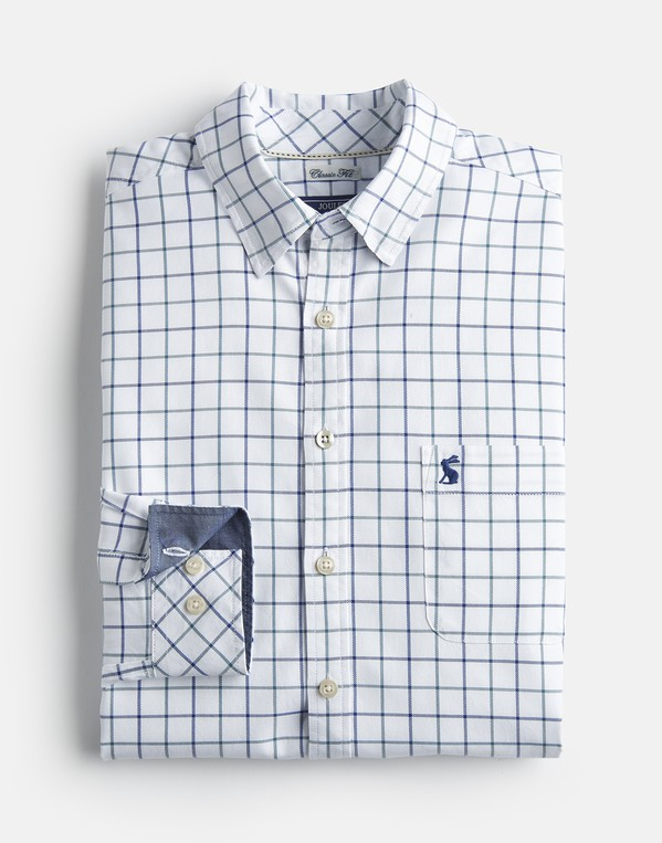 Joules Mens Wilby Classic Fit Checked Shirt in BLUE CHECK