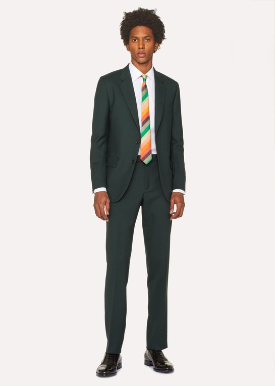 ae22b648d The Mayfair - Men s Classic-Fit Forest Green Wool  A Suit To Travel In