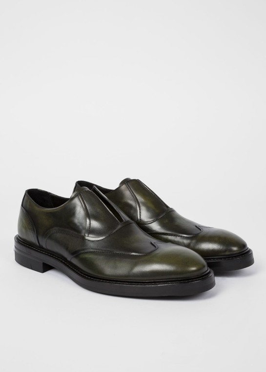 Hicks' Laceless Leather Brogues