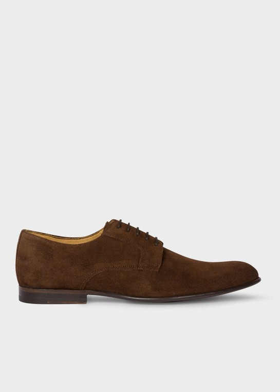Men's Chocolate Brown Suede Leather