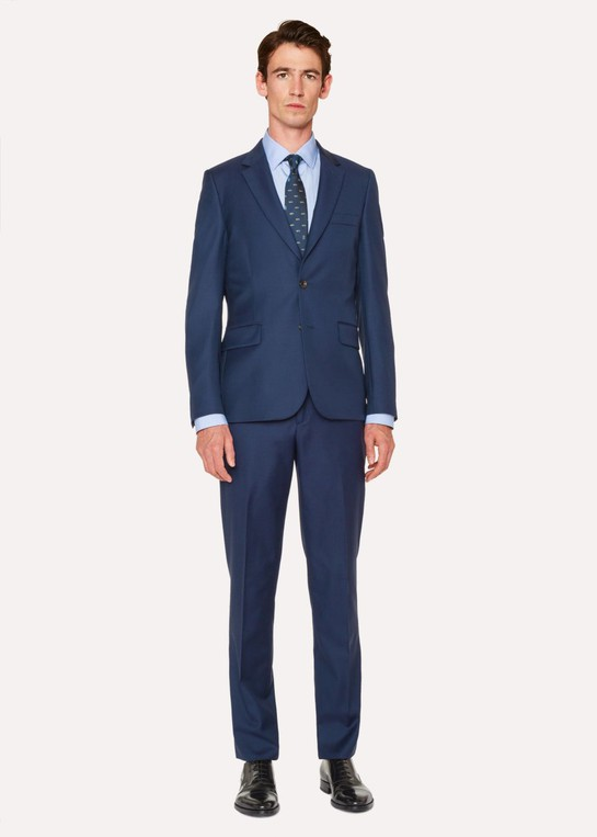 ad419950b The Soho - Men s Tailored-Fit Navy Wool S... — Thread