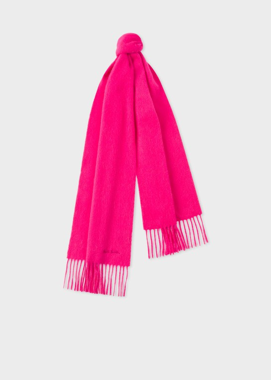 ea3250ab2c8d Bright Pink Cashmere Scarf by Paul Smith — Thread