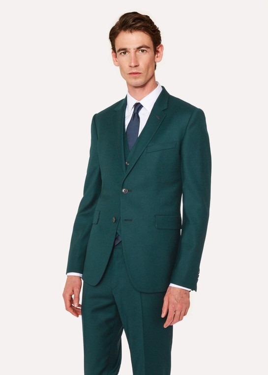 33bb8e98ca6 Men s Slim-Fit Forest Green Wool And Cashmere-Blend Blazer