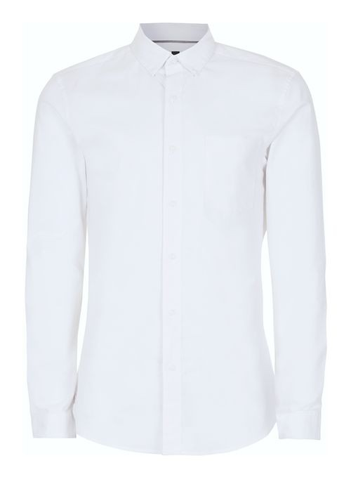 2cb81def2 White muscle fit oxford shirt by Topman — Thread