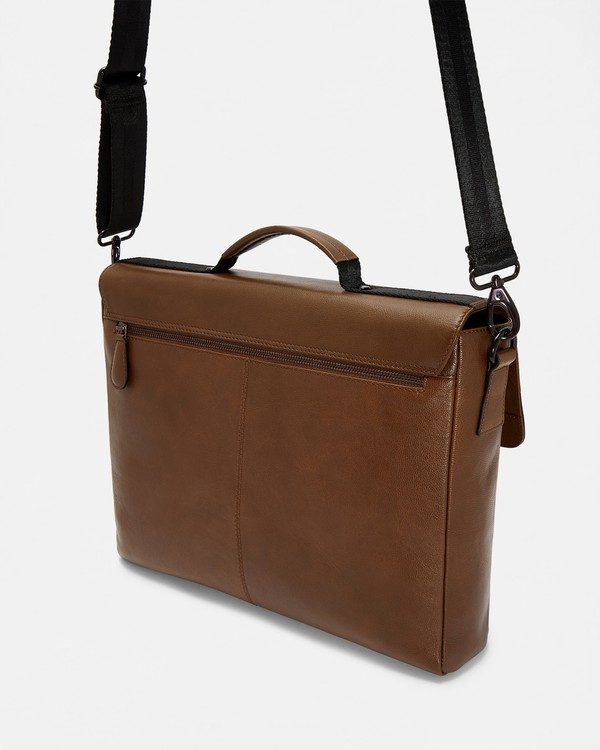 3b3029679 BOCELLI Striped leather messenger bag by ... — Thread