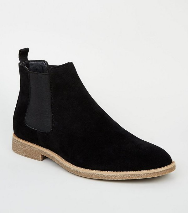 Faux Suede Chelsea Boots by New Look