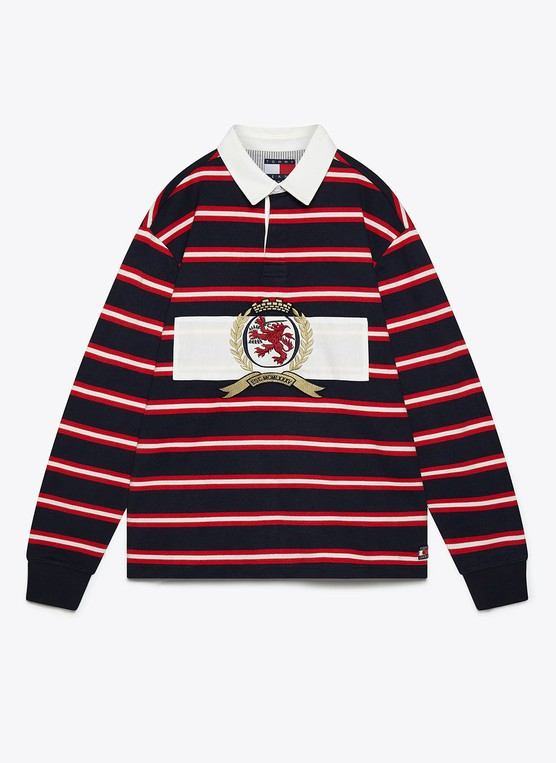 73ec6818f41 Crest stripe rugby shirt by Tommy Jeans — Thread