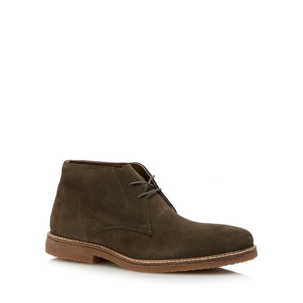 Khaki suede 'Fennel' chukka boots by J