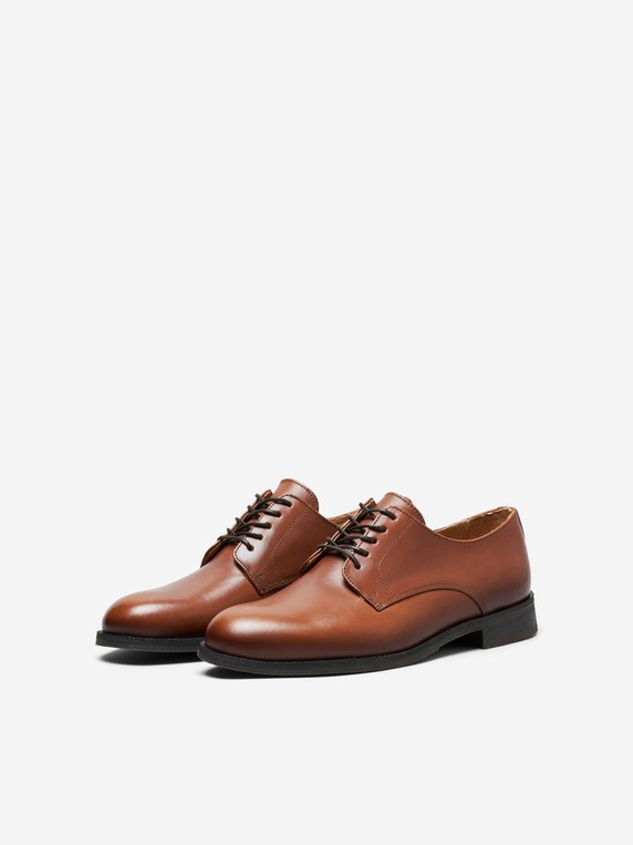 Leather Derby Shoes by Selected Homme