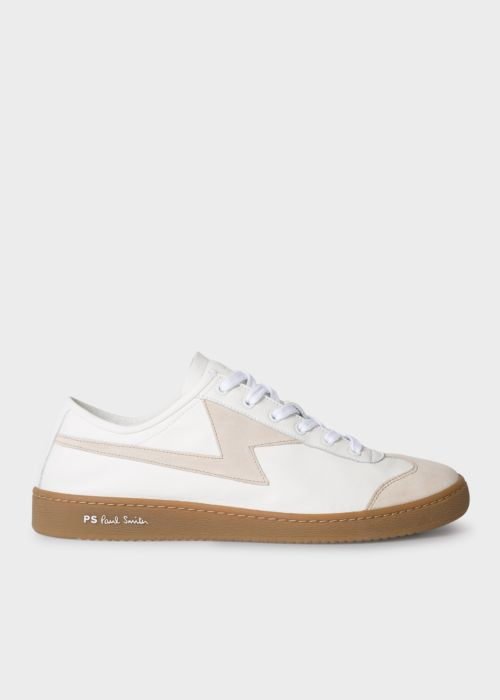 Men's White Leather 'Ziggy' Trainers by