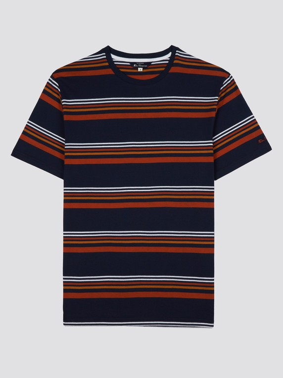 Ben Sherman Mens Chest Stripes Styled Tee