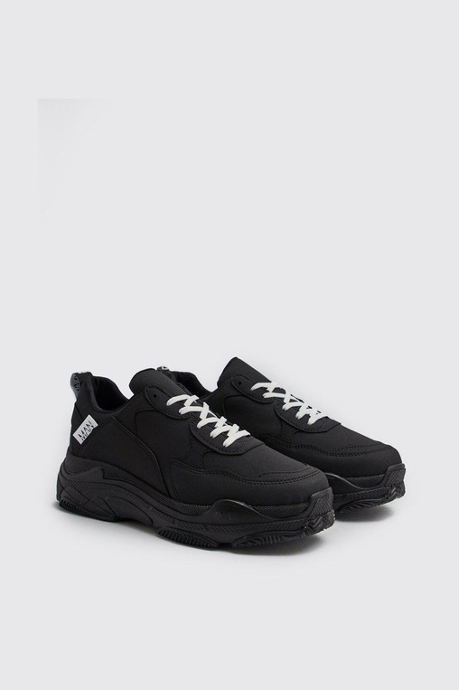 Matte Chunky Trainer by boohooMAN