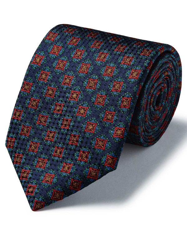 Polo by Ralph Lauren Slim Charcoal Medallion Print Tie