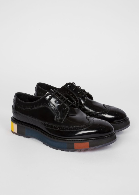Men's Black Patent 'Grand' Brogues With