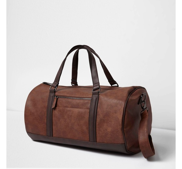 Mens Brown soft faux leather holdall bag ... — Thread f4828e4f6105