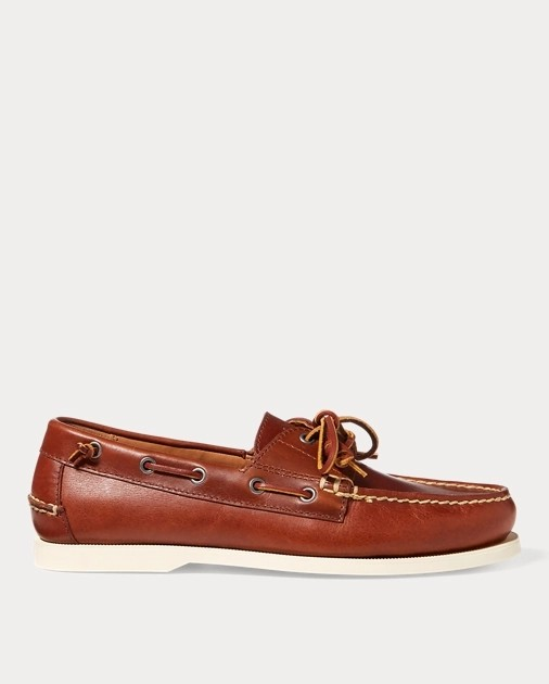 Merton Leather Boat Shoe by Polo Ralph