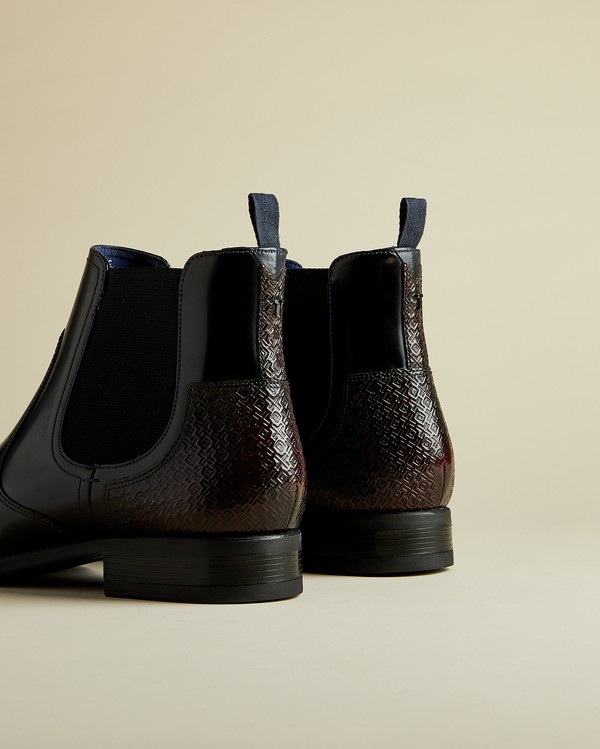 TRALLIC Leather Chelsea boots by Ted